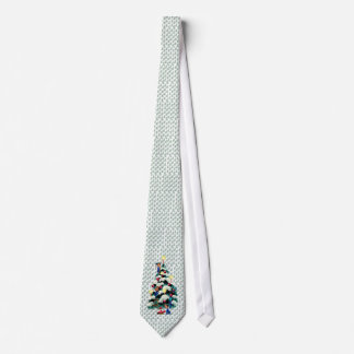 ELVES TRIMMING CHRISTMAS TREE by SHARON SHARPE Tie