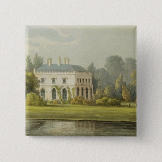 Elvills, Englefield Green, from Ackermann's 'Repos Pinback Button