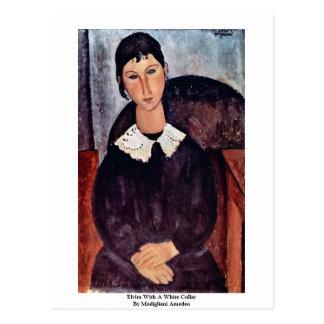 Elvira con un no manual de Modigliani Amedeo Postales