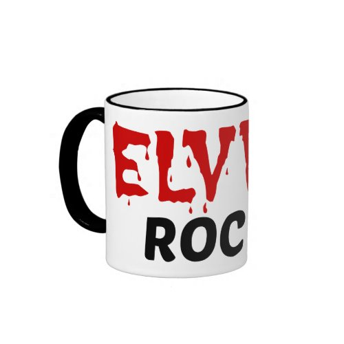 Elvira Rocks Ringer Coffee Mug