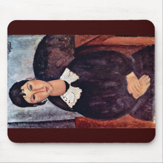 Elvira With A White Collar By Modigliani Amedeo Mouse Pads
