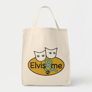 'Elvis a& Me' Logo Grocery Tote