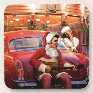Elvis and Marilyn Christmas Coaster