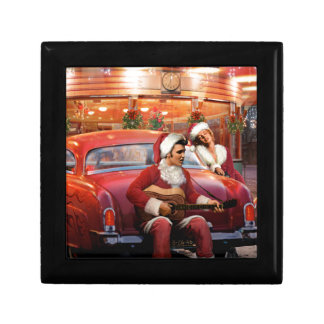 Elvis and Marilyn Christmas Jewelry Box