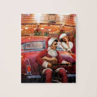 Elvis and Marilyn Christmas Jigsaw Puzzle