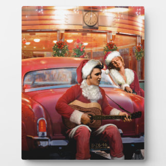 Elvis and Marilyn Christmas Plaque