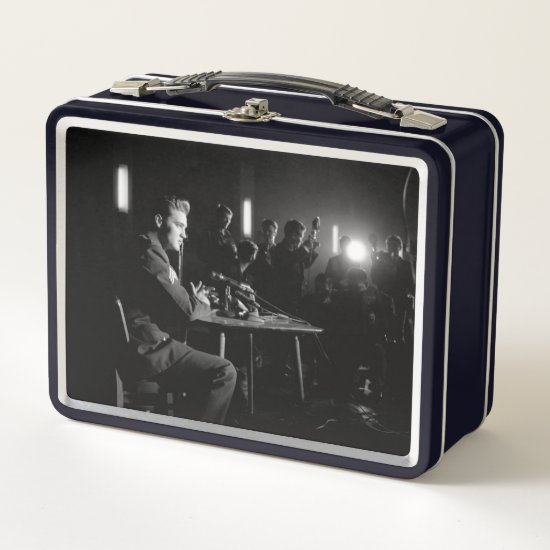 Elvis Army Press Conference Metal Lunch Box