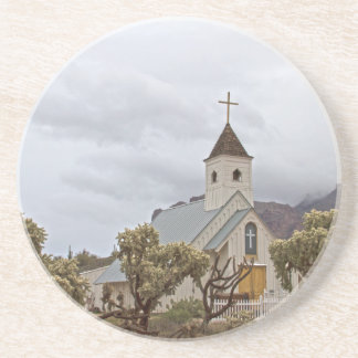 Elvis church at the Superstition mountains Drink Coaster