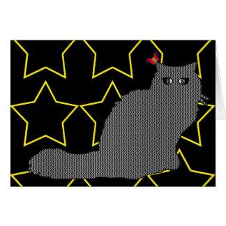 Elvis el gato/la risa viva del amor tarjeta pequeña