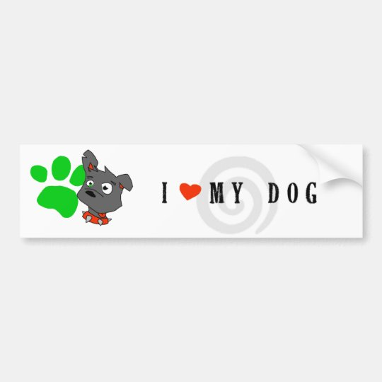 """Elvis"" I Love My Dog Bumper Sticker"
