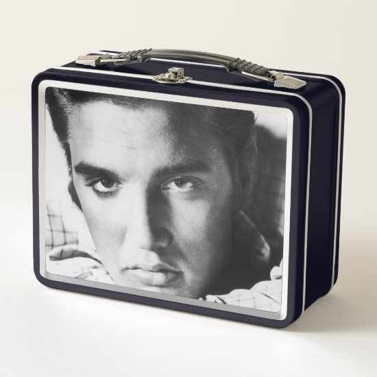 Elvis Presley | Black & White Headshot Metal Lunch Box