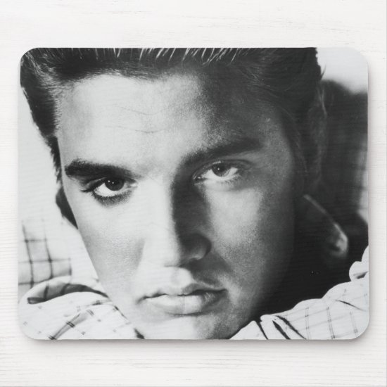 Elvis Presley | Black & White Headshot Mouse Pad