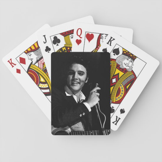 Elvis Presley | Jacksonville, FL B&W Playing Cards