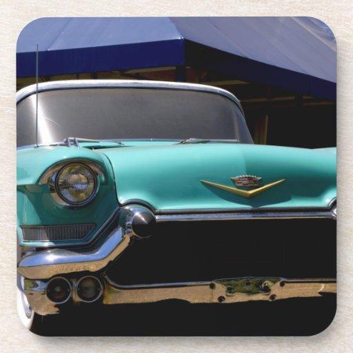Elvis Presley's Green Cadillac Convertible in Beverage Coaster