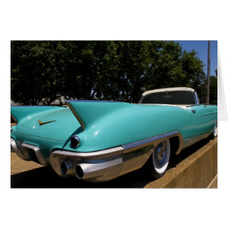 Elvis Presley's Green Cadillac Convertible in Card