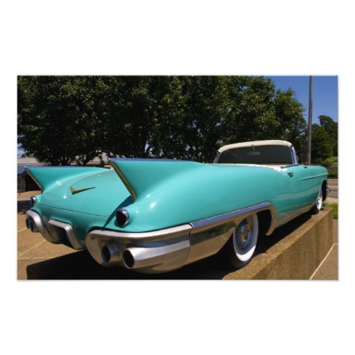 Elvis Presley's Green Cadillac Convertible in Photo Print