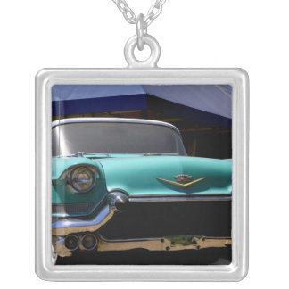 Elvis Presley's Green Cadillac Convertible in Silver Plated Necklace