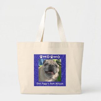 Elvis Puggy Large Tote Bag