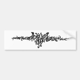 Elvish Love Tribal Line Black Ink Drawing Bumper Sticker