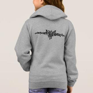 Elvish Love Tribal Line Black Ink Drawing Hoodie