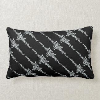Elvish Love Tribal Line Black White Ink Drawing Pillows