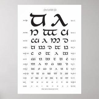 Elvish typography visión prueba posters