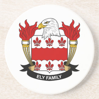 Ely Family Crest Coaster