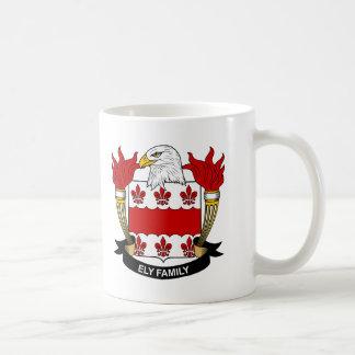 Ely Family Crest Classic White Coffee Mug