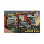 Ely, letra ScenesEly, manganeso de MinnesotaLarge Tarjeta Postal