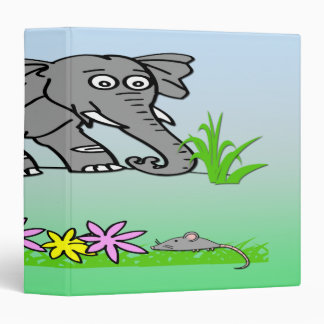 "Ely the Elephant - Sees a Mouse  1.5"" Binder"