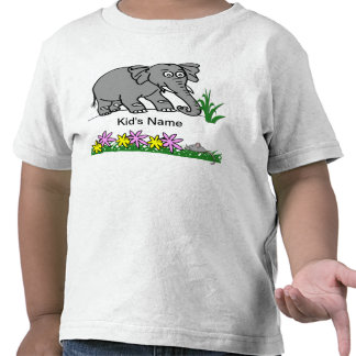 Ely the Elephant - Sees a Mouse Cute Kid s T-Shirt