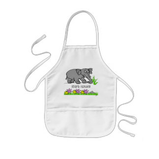 Ely the Elephant - Sees a Mouse Cute Kid's Apron