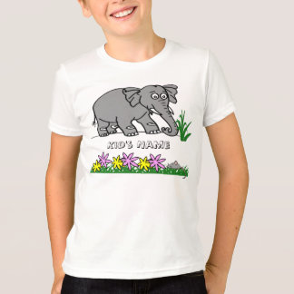 Ely the Elephant - Sees a Mouse Cute Kid's T-Shirt