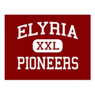 Elyria - Pioneers - High School - Elyria Ohio Postcard