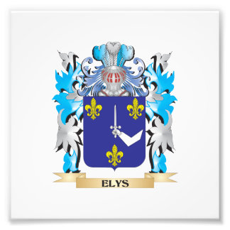 Elys Coat of Arms - Family Crest Photographic Print