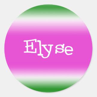 Elyse Classic Round Sticker