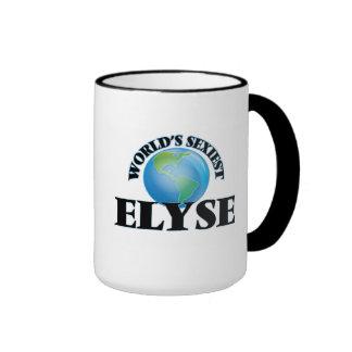 Elyse más atractivo del mundo taza de dos colores