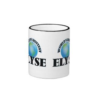 Elyse más caliente del mundo taza de dos colores