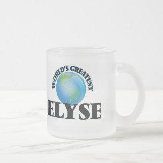 Elyse más grande del mundo taza de cristal