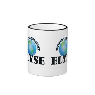 Elyse más grande del mundo taza de dos colores