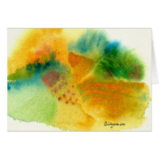 Elysian Fields Watercolor Greeting Card