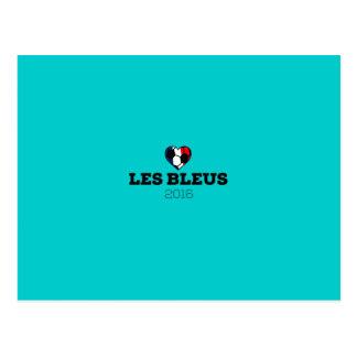EM 2016 Les bleus France Postcard