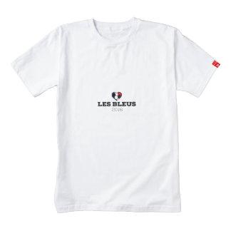EM 2016 Les bleus France Zazzle HEART T-Shirt