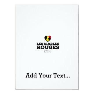 EM 2016 Les Diables Rouges Belgium Card
