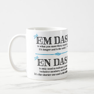 Em Dash Grammar Mug Punctuation Gifts for Teachers