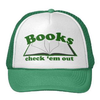 Em del control de los libros hacia fuera gorras