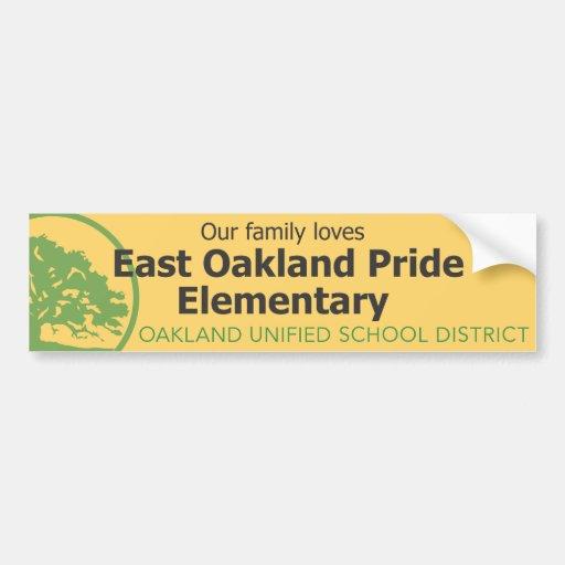EM del este del orgullo de Oakland Pegatina Para Auto