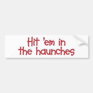 """Em del golpe """"en la pegatina para el parachoques d pegatina de parachoque"""