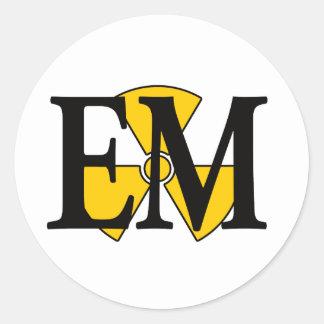 EM Electrician's Mate Classic Round Sticker