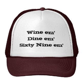 Em em'Sixty nueve del em'Dine del vino Gorros